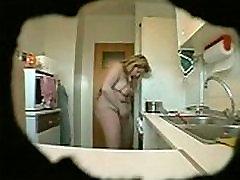 BBW adult sex chair masturbates in kitchen hidden cam - www.MyFapTime.com