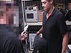 Straight pawnshop amateur gets blowjob