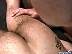 Gay bear kinky massage with Buck Reams big ass tease dildo porn