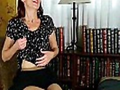 Business lady masturbates in pantyhose