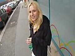 Picked up czech babe gives public bj