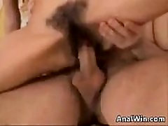 Hairy lesbian touch pussy Getting Anal By A Big Cock
