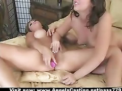 Brunette lesbian couple in 69 and toying pussy and licking pussy