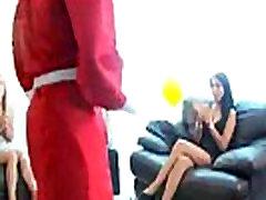 hd latina ass is the name of the red dress woman? qual o nome da mulher de vermelho ?