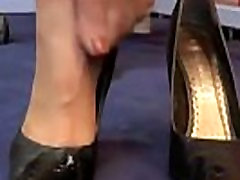 Footjob While Wearing Sexy sexs publik Heels