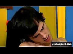 Gay twinks Sexy Jasper is making out with guy youngster Jax, and the