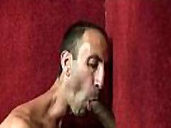 Gloryholes and handjobs - Nasty wet gay hardcore XXX sex 28