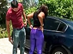 Thick ebony GF with big booty rides her BF