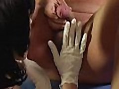 Long Fingered Nurse Anal Fingers Guy and Fucks With A Vibrator full