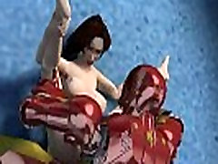 Yummy 3D xxx brauty hd babe getting fucked by Iron Man
