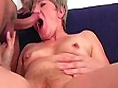 Granny fucking with younger guy