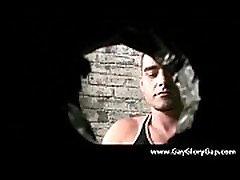 Gay black and white dudes gloryhole sex porno 07