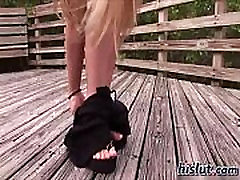 Brianna stripteased