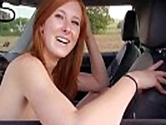 Amateur redhead Eurobabe Linda Sweet fucked in public