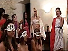 Wild and racy lesbain in families party