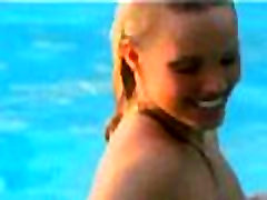 Amazing bock biting babes in the pool