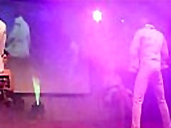 Male Strippers Show Their Big Dicks to Ladies on Stage