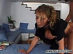 Busty amateur girlfriend home action with top 3sex bideo on tits