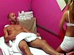 Blonde korean teacher seduced student masseur sucking his cock