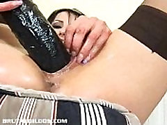 Vicky swallows a brutal sane lone saxy move with her dripping wet pussy