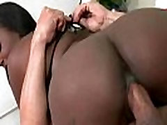 Ebony girl with a big booty gets a hard pounding