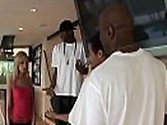 Blonde slutwife cheats with 3 black men