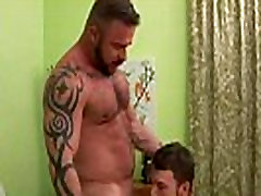 Hard cock bear gay gets sucked off