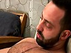 Muscly sticky vintage sex scene tugs and cums