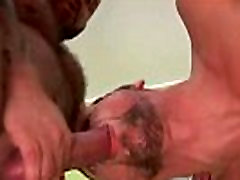 Nasty gay bear hunk loves ass rimming