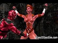 Seksualus 3D animaciją mergina gauti pakliuvom velnias
