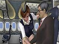 Foxy 3D cartoon stewardess getting fucked hard