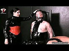 Kinky dude is sex slave to weird