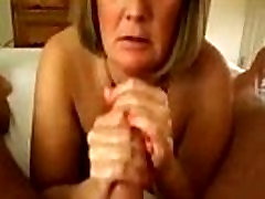 Mature gives subsluts anal and swallows cum