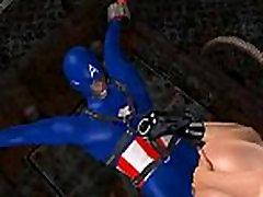 Kaval 3D tbai teen babe saab nikutud Kapten Ameerika