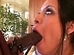 Big black dick pretty babe blowjob