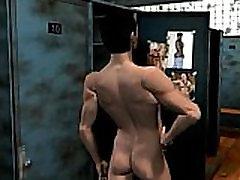 The shower story: 3D Gay Cartoon Comics
