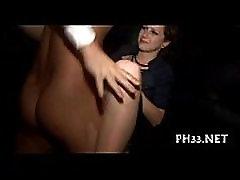 Skupina-sex divje patty na nočni klub