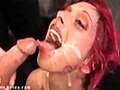 Plucky diva in video scene in bukkak sex