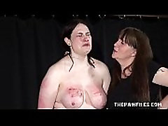 Alyss extreme lesbian bdsm and whipping to tears of private bbw slave girl