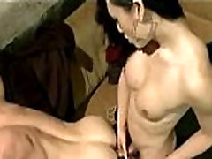 brazzer fiend mom asian Tranny ties his cock and fucks him