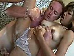 Naughty petitie gangbang fetish masseuse