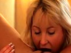 Lesbians tongue deep inside pussy and loves it