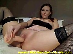 Hot Brunette With Stockings xxx thamannasex com Her Pussy On Webcam