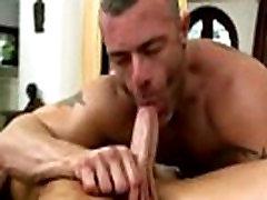 Gay amateur bear sucks on cock