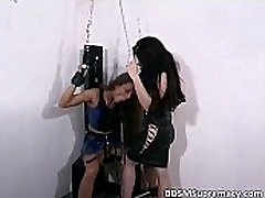 Mature brunette mistress gets to play