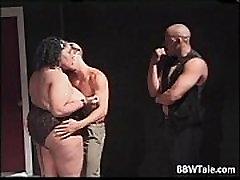 Big fat cute ebony slut blows cock