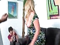 MomGoingBlack.com - seachstepson seduce by stepmom MILF aunty having nose ring 1