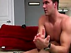 Pornstar Trystan Bull plays with his cock