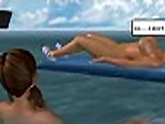 Two hot 3D cartoon hotties get fucked on a boat