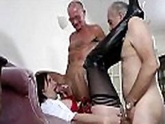 Horny old freaks lesbian squirt punishment team a gorgeous brunette schoolgirl